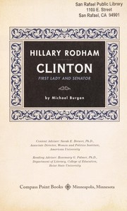 Cover of: Hillary Rodham Clinton: first lady and senator