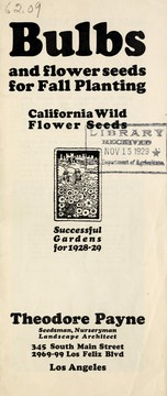 Cover of: Bulbs and flower seeds for fall planting, California wild flower seeds | Theodore Payne (Firm)