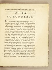 Cover of: Avis au commerce
