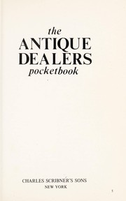 Cover of: The Antique dealers pocketbook