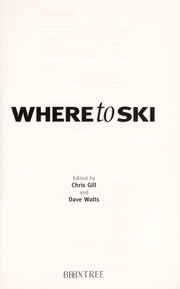 Cover of: Where to ski