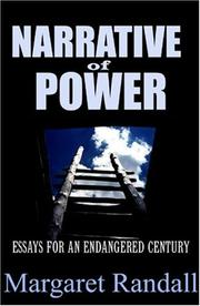 Cover of: Narrative of Power: Essays for an Endangered Century