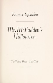 Cover of: Mr. McFadden's Hallowe'en