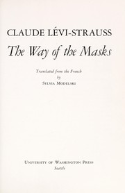 Cover of: The way of the masks