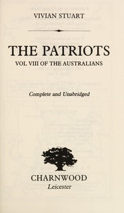 Cover of: The Patriots: The Australians VIII