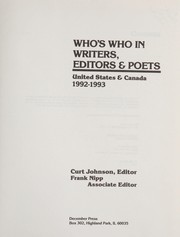 Cover of: Who's Who in Us Writers, Editors and Poets, 1992-93