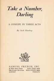 Cover of: Take a number, darling | Jack Sharkey