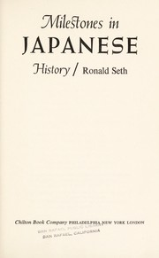 Cover of: Milestones in Japanese history