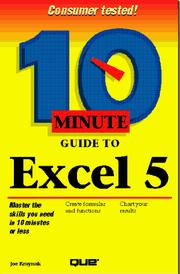 Cover of: 10 minute guide to Excel 5