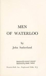 Cover of: Men of Waterloo | John Patrick Sutherland
