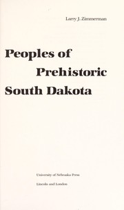 Cover of: Peoples of prehistoric South Dakota
