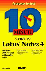 Cover of: 10 minute guide to Lotus Notes 4