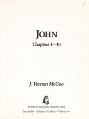 Cover of: John I | J. Vernon McGee