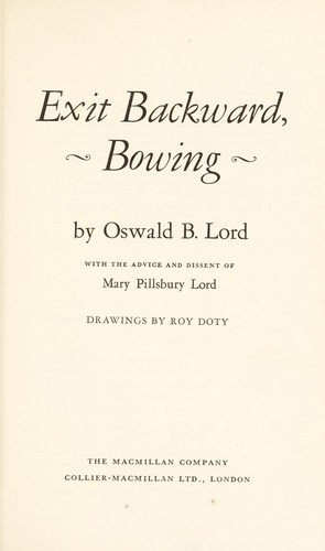 Exit backward, bowing by Oswald Bates Lord