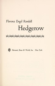Cover of: Hedgerow