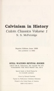 Cover of: Calvinism in history