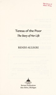 Cover of: Teresa of the poor