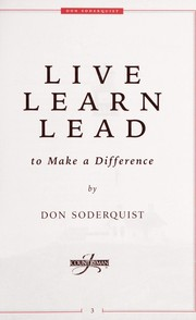 Read Live Learn Lead to Make a Difference [LIVE LEARN LEAD ...