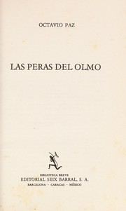 Cover of: Las peras del olmo