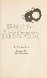 Cover of: Night of the Slime Creature