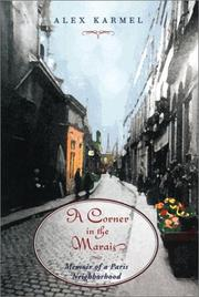 Cover of: A Corner in the Marais