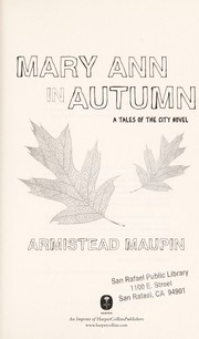 Cover of: Mary Ann in autumn