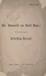 Cover of: Mr. Russell on Bull Run