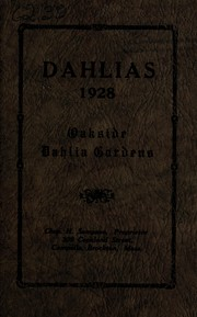 Cover of: Dahlias, 1928 | Chas H. Sampson (Firm)