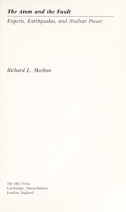 Cover of: Atom and the Fault | Richard L. Meehan