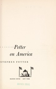 Cover of: Potter on America