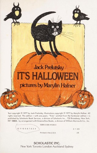 cover of its halloween jack prelutsky