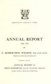 Cover of: [Report 1958] | Lytham St. Anne