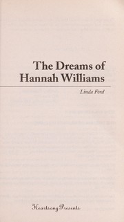 Cover of: The dreams of Hannah Williams