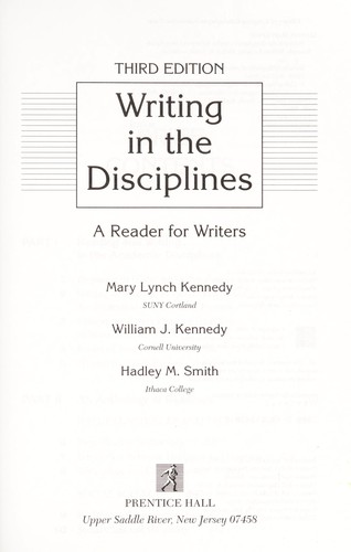 Writing in the disciplines by Mary Lynch Kennedy