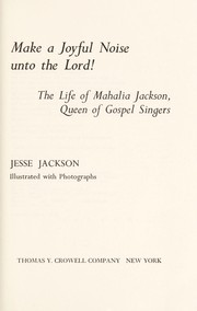 Cover of: Make a joyful noise unto the Lord!