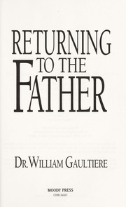 Cover of: Returning to the Father