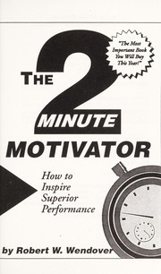 Cover of: The 2 minute motivator