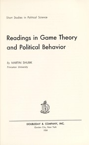 Cover of: Readings in game theory and political behavior