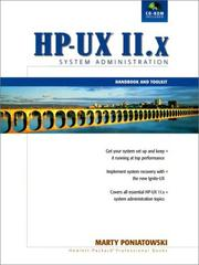 Cover of: The HP-UX 11.x System Administration Handbook and Toolkit (2nd Edition) | Hewlett-Packard Professional Books