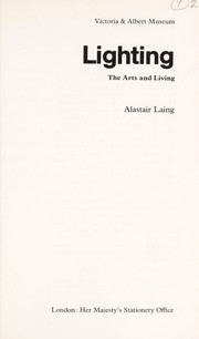Cover of: Lighting | Alastair Laing