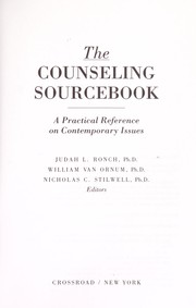 Cover of: The Counseling sourcebook: a practical reference on contemporary issues
