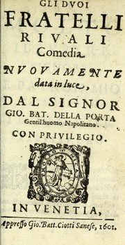 Cover of: Gli dvoi fratelli rivali
