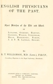 Cover of: English physicians of the past | R. T. Williamson