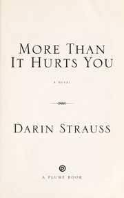 Cover of: More than it hurts you