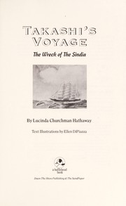 Cover of: Takashi's voyage : the wreck of the Sindia |