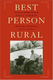 Cover of: Best Person Rural