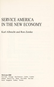 Cover of: Service America in the new economy