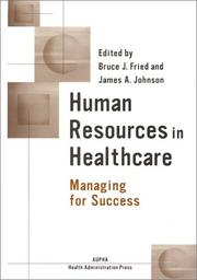 Cover of: Human resources in healthcare |