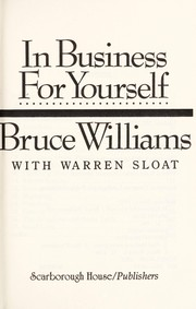 Cover of: In business for yourself