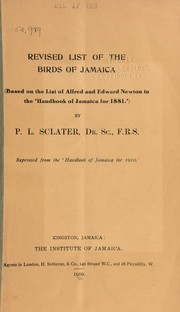Cover of: Revised list of the birds of Jamaica